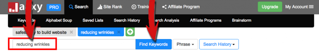 how to find keyword traffic